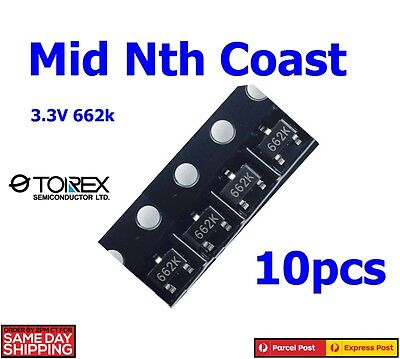 10pcs XC6206P332MR 662K 3.3V 200mA TOREX LDO Voltage Regulator SMD SOT-23