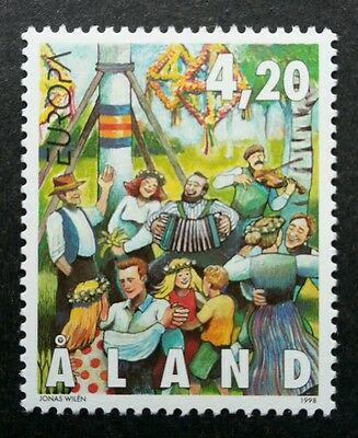 Aland Europa CEPT Feasts And Festivals 1998 Dance Kites Celebration (stamp) MNH