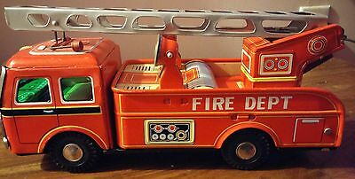 tin friction fire truck 1950s.