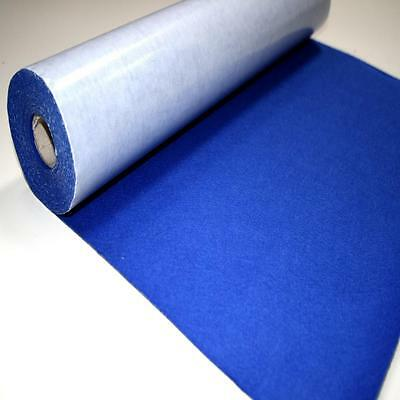 BS EN 71 ROYAL BLUE Sticky Self Adhesive Felt Baize Fabric Mini 5m Rolls UK MADE