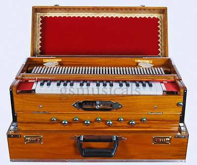 Harmonium 9 Scale Changer Teak Wood 3 Set Traveller Box Model Gsm050