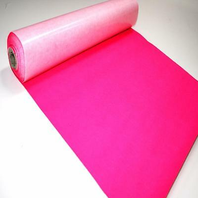 BS EN 71 CERISE Sticky Self Adhesive Felt Baize Fabric Mini 5m Rolls UK MADE