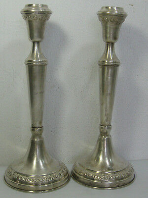 A Lovely Pair Of Vintage Silver 800 Candle Stick Holders In Good Condition