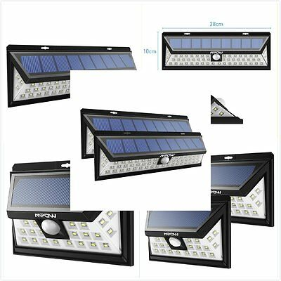 LITOM Solar Power Motion Sensor Light Waterproof Outdoor Yard Garden Wall Light