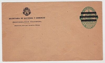 Costa Rica PSE Cover Overprinted For Official USE UNUSED