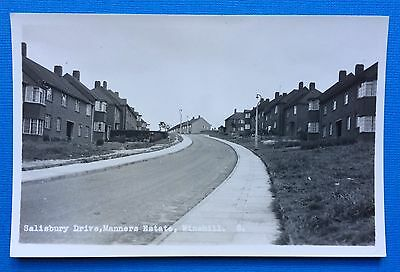 Salisbury Drive, Manners Estate, Winshill, Pu Bourne, Real Photographic Unposted