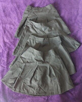X4 girls grey school skirts 3-4 years