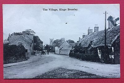 The Village, Kings Bromley, Pu Pascoe, Printed, Posted 1908, Duplex Cancellation