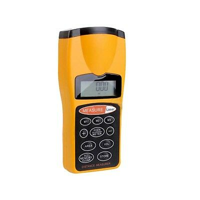 Distance Meter Ultrasonic Laser Lcd Beam Pointer Digital Tape Measure Tools Ca