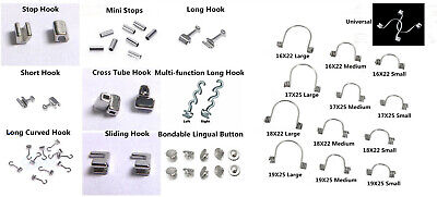 Dental Orthodontic Crimpable Hook Torque Spring Lingual Buttons Long Short Stop