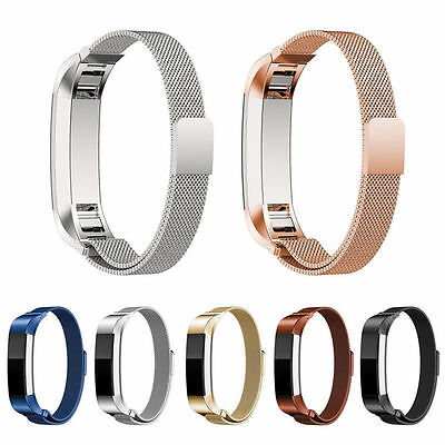 Stainless Metal Watch Band ReWristband Strap Bracelet For Fitbit Alta Alta HR AU