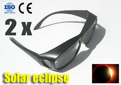 Plastic Solar Eclipse Glasses Goggles - 2pcs as set/ CE & ISO Certified