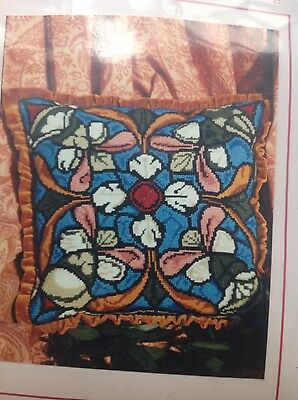 Canterbury Cathedral Window . Needlepoint cushion kit. new and factory sealed.