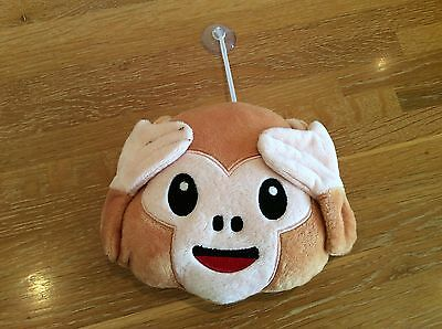 Monkey face plush soft toy with window sticker.