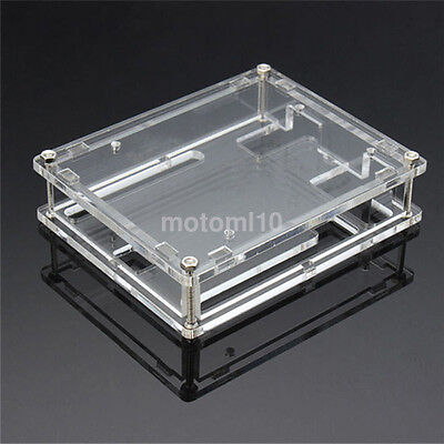 New Clear Case Holder Enclosure Acrylic Protective Box for Board Arduino UNO R3