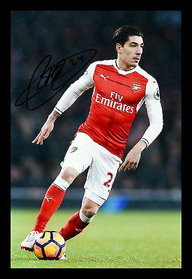 HECTOR BELLERIN ARSENAL FC HAND SIGNED PHOTO AUTHENTIC GENUINE + COA - 12x8