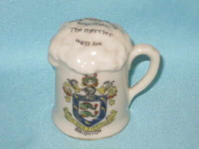Arcadian China Foaming Tankard Of Ale - BRIGHTON crest