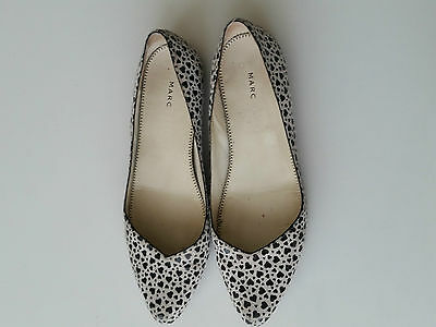 Marc by Marc Jacobs black and white suede flats size 37