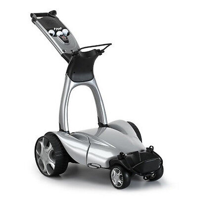 Stewart X9 Remote Electric Golf Push Cart - Silver, New