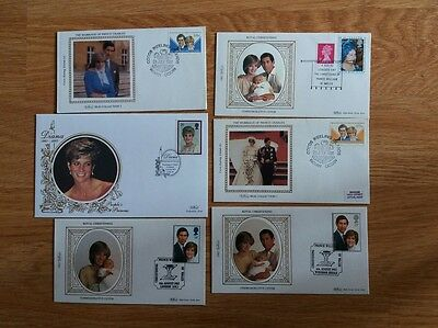6  Hrh Diana Princess Of Wales, Fdc Silk  Charles William Christening Collection