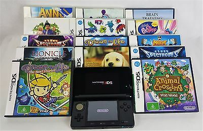 Nintendo 3DS Console + 14 Games - FREE EXPRESS POSTAGE