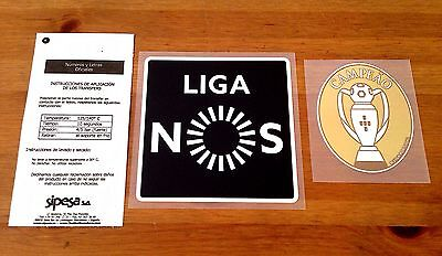 2015-17 Benfica LIGA NOS & CAMPEAO Champions SIPESA Football Badge Patch Set NEW