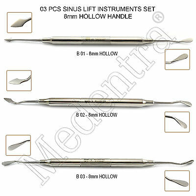MEDENTRA® 3Pcs Implant Sinus Lift Buser Periosteal Elevators Implantologia Lab