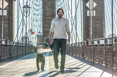 """001 John Wick Chapter 2 - Keanu Reeves 2017 Movie 21""""x14"""" Poster"""