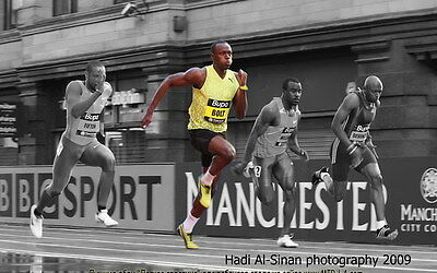 """009 Usain Bolt - 100 m Running Olympic Game Champion 22""""x14"""" Poster"""