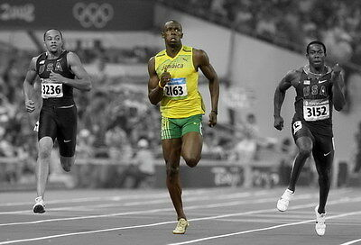 "034 Usain Bolt - 100 m Running Jamaica Game Champion Olympic 20""x14"" Poster"