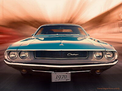 """010 Dodge Charger 1970 - Fast Furious 7 Muscle Race Car 32""""x24"""" Poster"""