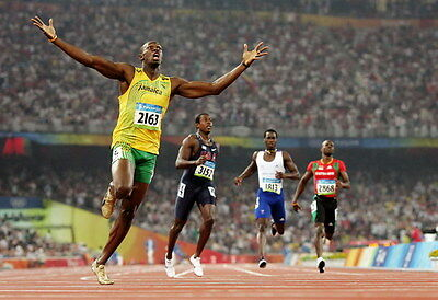 "035 Usain Bolt - 100 m Running Jamaica Game Champion Olympic 35""x24"" Poster"