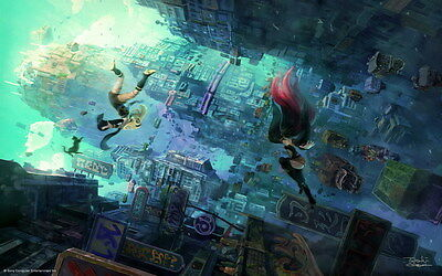 "018 Gravity Rush 2 - Action Fight Game 38""x24"" Poster"