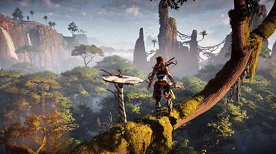 "048 Horizon Zero Dawn - Aloy Adventure Role Play Game 42""x24"" Poster"
