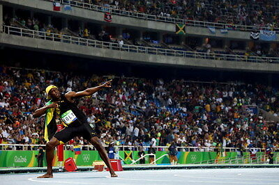 "049 Usain Bolt - 100 m Running Jamaica Game Champion Olympic 36""x24"" Poster"
