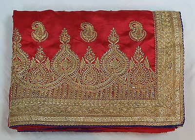 Indian Traditional Ethnic Bollywood Art Silk Saree Sari Bridal Party Wear Dress