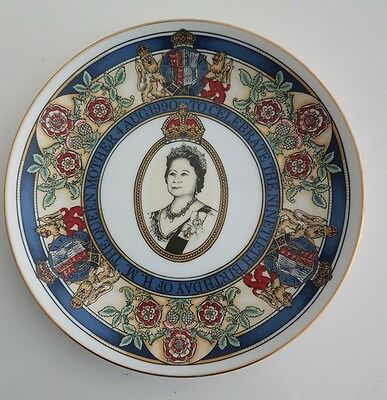 The Queen Mother 90th Birthday Commemorative plate