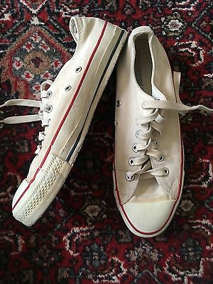 Vintage Converse Chuck Taylor Size 8 Made In USA White Low Top Rare