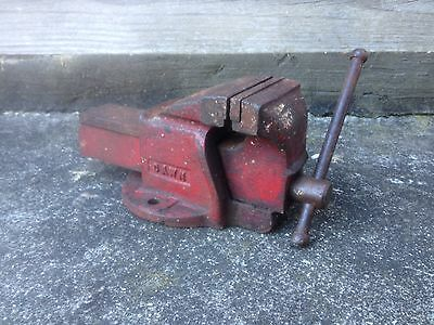 Vintage Collectable Dawn Number-3, Red Bench Vice / Clamp, Hand Tool