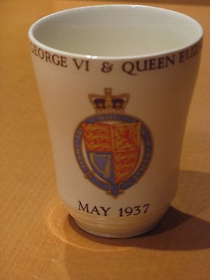 Woods Ivory Ware May 1937 Coronation Beaker Cup