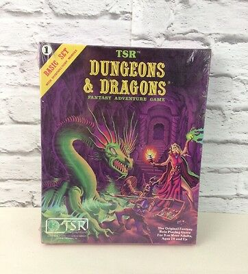 Brand New Sealed TSR Dungeons And Dragons Game Basic Set 1.
