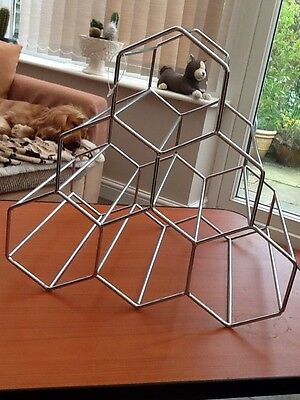 6 Bottle Stainless Steel Table Top Wine Rack Brand New