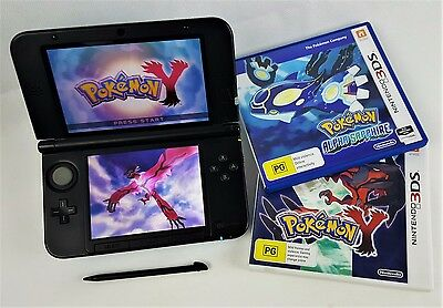 Nintendo 3DS XL - Limited Edition Pokemon Console + 2 Pokemon Games & Charger