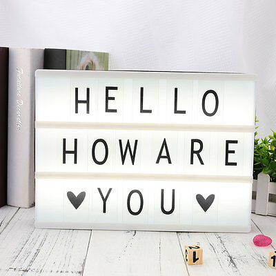 DIY 85pcs Replacement A4 Light Up Box Letters LED Cinematic Board Gift