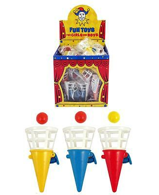Pack Of 12  Mini Click & Catch Game Multi colour Unisex Kids Party Bag Fillers