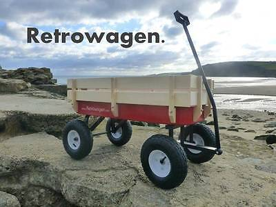 Original Pull along Retro wagon Retrowagen flyer kart radio -new axle design