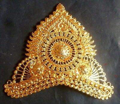 22K Gold Plated Big 6'' Crown Head Jewelry For God Jewelry Designer Hindu Puja a
