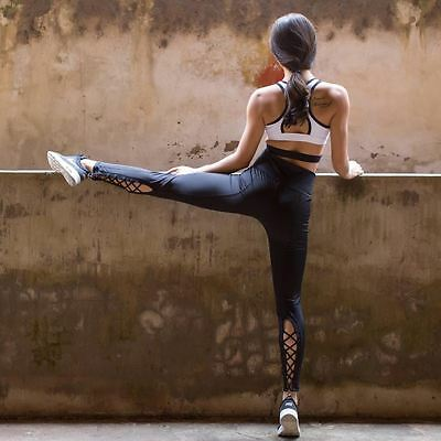 Women's Leggings Quality Laced Bottom Activewear Fitness Ballet Barre Workout