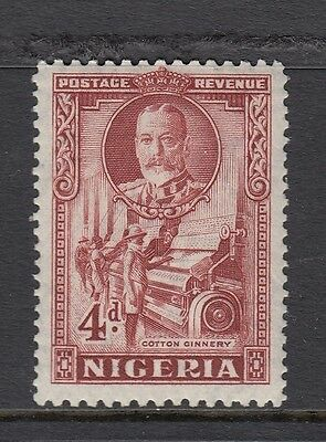 NIGERIA STAMPS  - 1936 - SG 39 - 4d red brown - lightly mounted mint