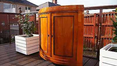 ANTIQUE VINTAGE BIEDERMEIER CORNER CABINET UNIT (Amber Cherry)